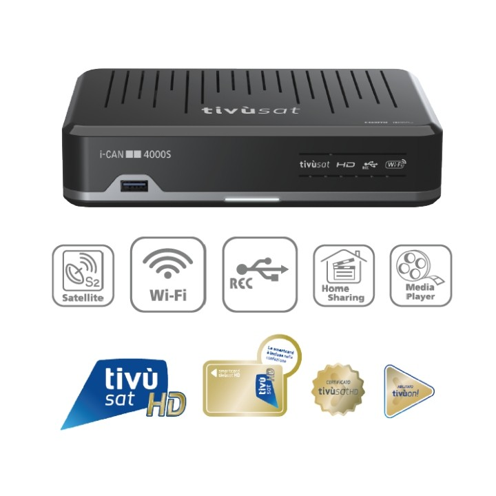 Tivusat i-CAN 4000S Official HD Italian Receiver and Activated Card